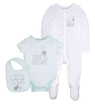 Mini club Tiny Treasures 3 piece set NEWBORN (Up to 4.5 kg).