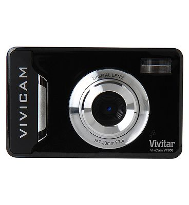 Vivitar VT036 Black (12mp 2.2 Inch Screen 4x  Digital Zoom) Camera