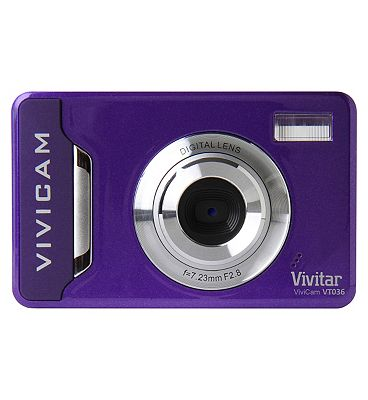 Vivitar VT036 Purple(12mp 2.2 Inch Screen 4x Digital Zoom) Camera
