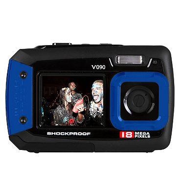 Vivitar V090 Blue (18mp 2.7Inch and 1.8Inch screens Waterproof) Camera