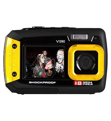 Vivitar V090 Yellow (18mp 2.7Inch and 1.8Inch screens Waterproof) Camera