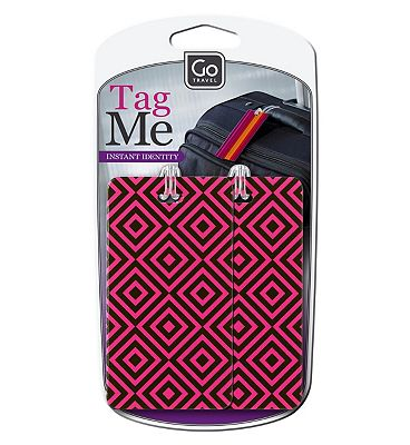 Go Travel Patterned Luggage Tags.