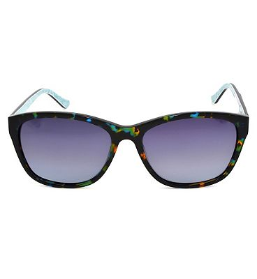 Monsoon Turquoise and Black Tortoiseshell Effect Sunglasses