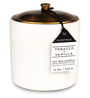 Paddywax Hygge Ceramic Candle Tobacco and Vanilla 425g.