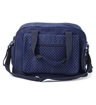Summer Infant Changing Bag - Navy Polka Dot