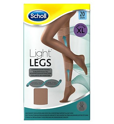 Scholl Light Legs Compression Tights 20 Den Nude  Extra Large