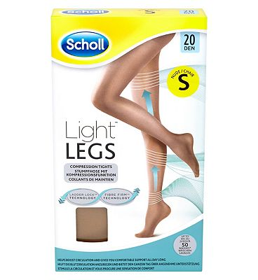 Scholl Light Legs Compression Tights 20 Den Nude - Small