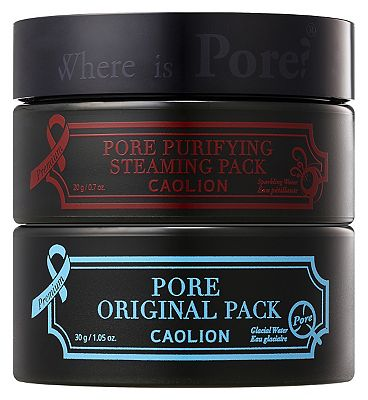 Caolion premium hot and cool pore pack duo.