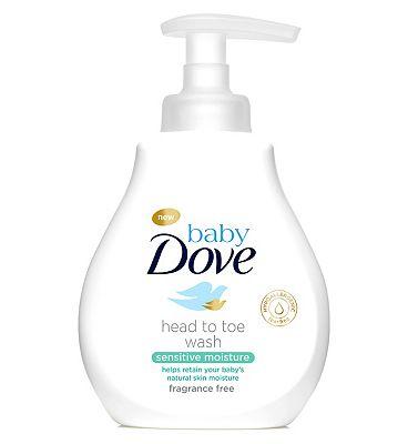 Baby Dove Sensitive Moisture Head to Toe Wash 200ml.