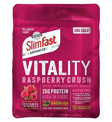 SlimFast Advanced Vitality Shake - Raspberry Crush 440g.