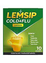 Lemsip Cold & Flu Lemon Flavours- 10 Sachets