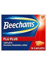 Beechams Flu-Plus Caplets - 16 Caplets