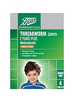 Boots Pharmaceuticals Threadworm Tablets - 4 Tablets
