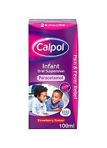 Calpol Infant Suspension Strawberry Flavour 2+ Months 100ml