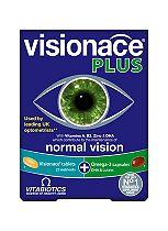 Vitabiotics Visionace Plus Omega-3 Dual Pack 56 Tablets/Capsules