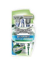 Wilkinson Sword Quattro Titanium Disposable Razors 3 pack