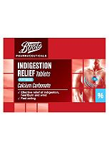 Boots Indigestion Relief Tablets Peppermint Flavour - 96 Tablets