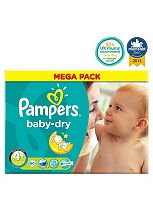 Pampers Baby-Dry Nappies Size 4+ Mega Box - 80 Nappies