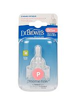 Dr Browns Preemie Teat Twin Pack