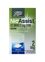 Boots Pharmaceuticals NicAssist Ice Mint 2mg Gum - 105 Pieces