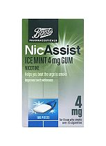 Boots Pharmaceuticals NicAssist Ice Mint 4mg Gum- 105 Pieces
