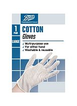 Boots Pharmaceuticals Cotton Gloves- Large (1 Pair)