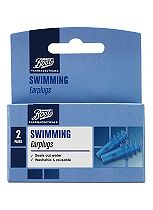 Boots Pharmaceuticals Swimming Earplugs (2 Pairs with Carry Case)