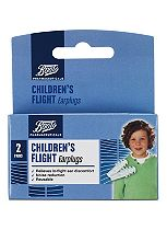 Boots Pharmaceuticals Childrens Flight Earplugs (2 Pairs with Carry Case)