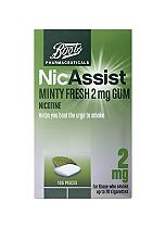 Boots Pharmaceuticals NicAssist Minty Fresh 2 mg Gum - 105 Pieces