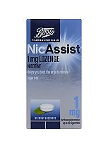 Boots Pharmaceuticals NicAssist 1 mg compressed lozenges  - 96 Lozenges