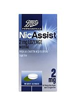 Boots Pharmaceuticals NicAssist 2mg Mint Lozenge Nicotine- 96 Lozenges