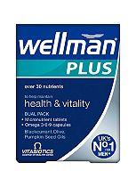 Vitabiotics Wellman Plus Omega 3, 6 & 9 56 Tablets/Capsules