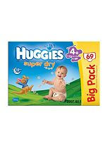 Huggies Super-Dry Nappies Size 4+ Big Pack - 1 x 69 Nappies