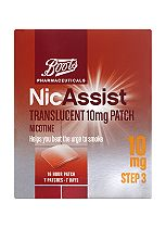 Boots Pharmaceuticals NicAssist Translucent 10mg Patch Step 3 (7 Patches)