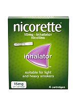 Nicorette 15mg inhalator (4 cartridges)