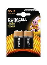 Duracell Plus Power 9V Battery x2