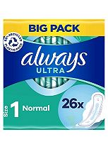 Always Ultra Sanitary Towels Normal Plus with Wings x26 pads