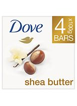 Dove Purely Pampering Shea Butter Beauty Bar with Vanilla Scent 4 x 100g