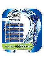 Wilkinson Sword Hydro 5 Razor + 12 Blades Value Pack
