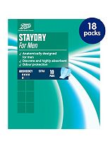 Staydry Mens Extra Pads x 18 packs