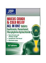Boots Mucus Cough & Cold Relief All In One 16 Tablets