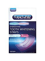 Rapid White Express Sensitive 5 minute dissolving tooth whitening strips