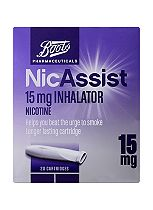 Boots Pharmaceuticals NicAssist Inhalator 15mg -  20 pack