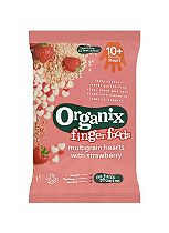Organix Finger Foods Multigrain Hearts with Strawberry 8g