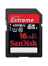 SanDisk Extreme® 16GB SD Memory Card