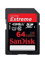 SanDisk EXTREME Secure Digital Memory Card- 64GB - Class 10