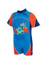 Zoggs Swimfree Float Suit in Blue and Red