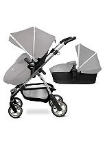 Silver Cross Wayfarer Seat, Chassis & Carrycot