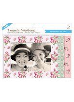 Shot 2 Go Vintage Floral Fridge Photo Frames 4 x 6- 3 Pack