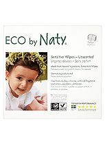 Naty by Nature Babycare Sensitive Unscented Wipes - 3 x 56Pack (168 Wipes)